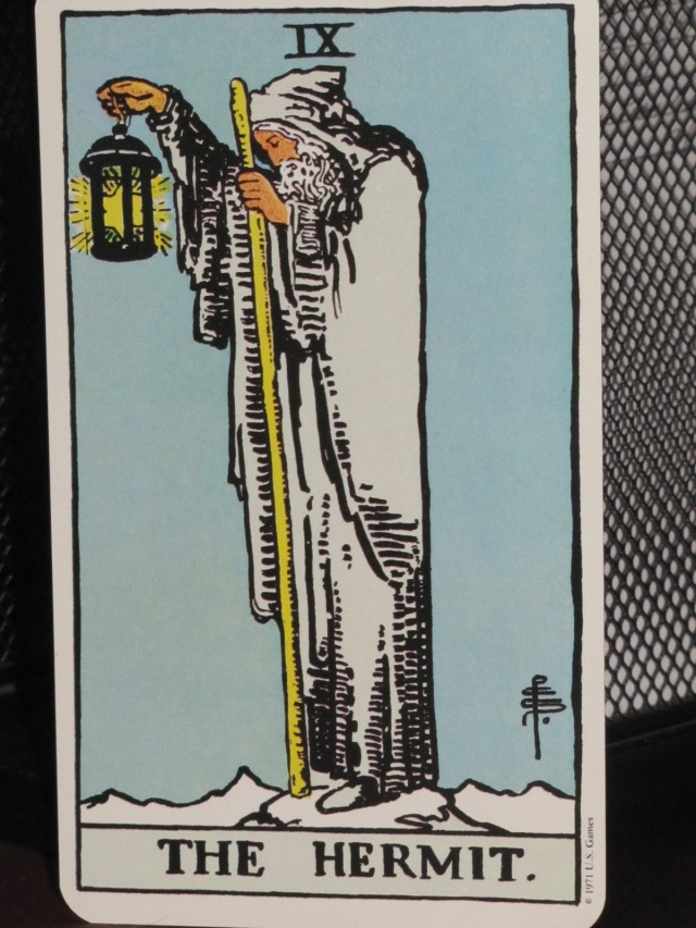 The Hermit - image from Ryder Waite Tarot Deck