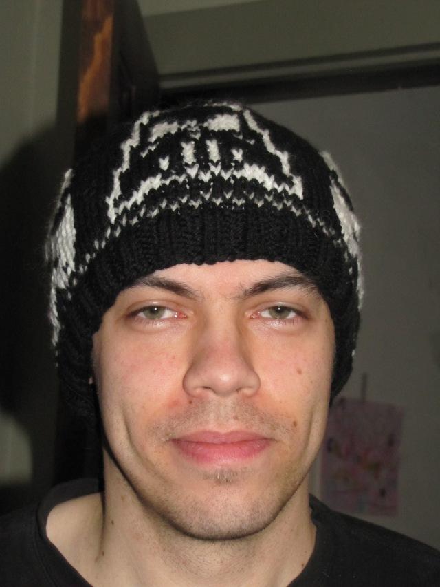 Chris wearing his Star Wars Hat