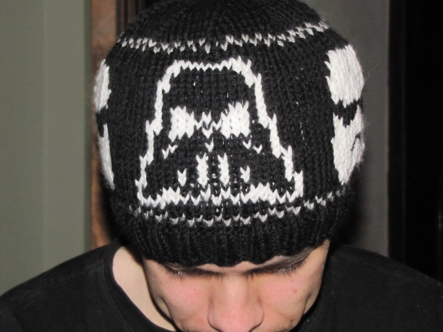 darth outline front hat