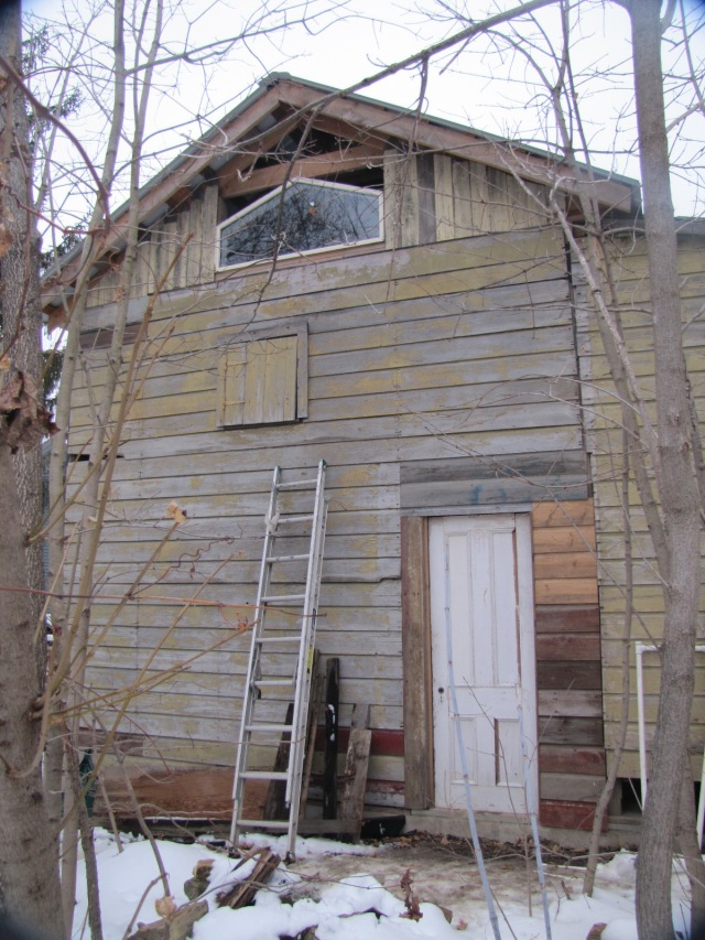 back of barn