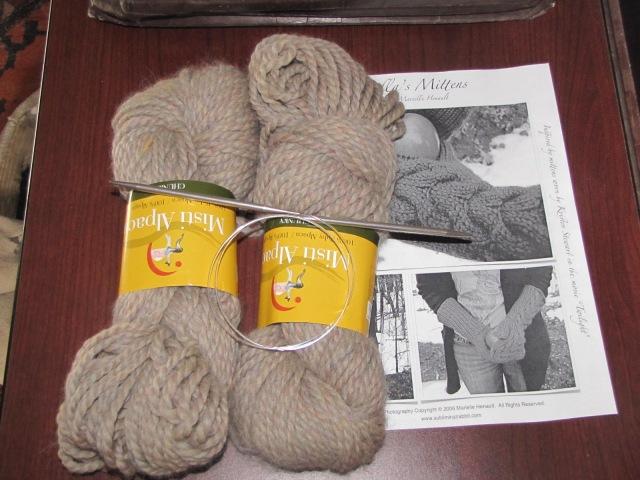 misti alpaca chunky yarn and Bella pic