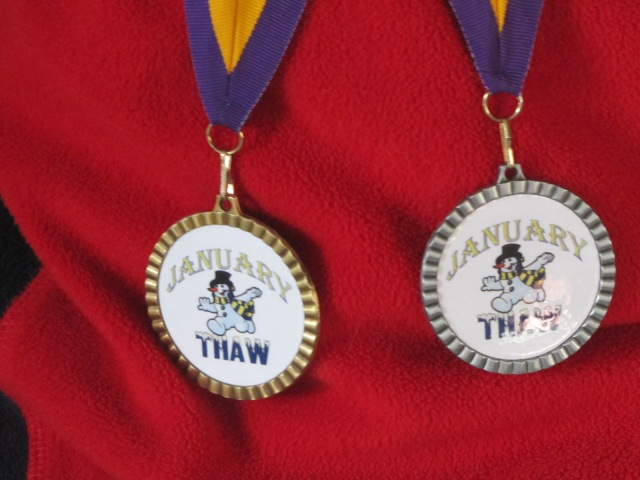 close up of Jesse's medals