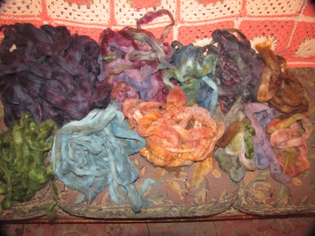 color piles of rovings