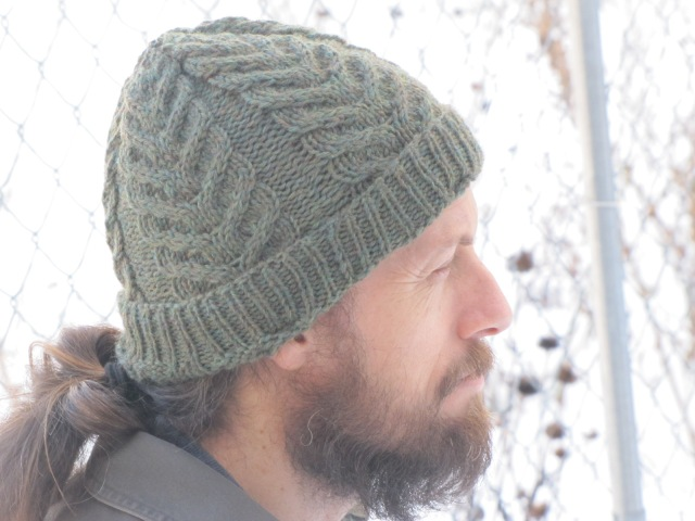 side view of antler hat