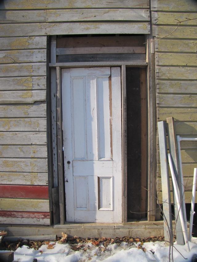 back door framed out