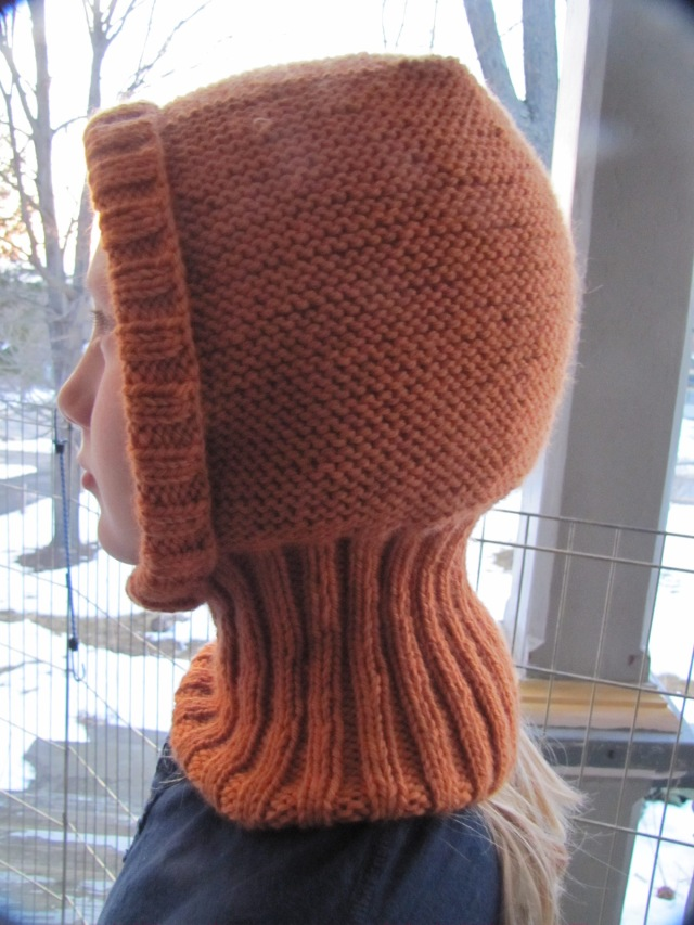 Uhlan hat with ribbing folded back