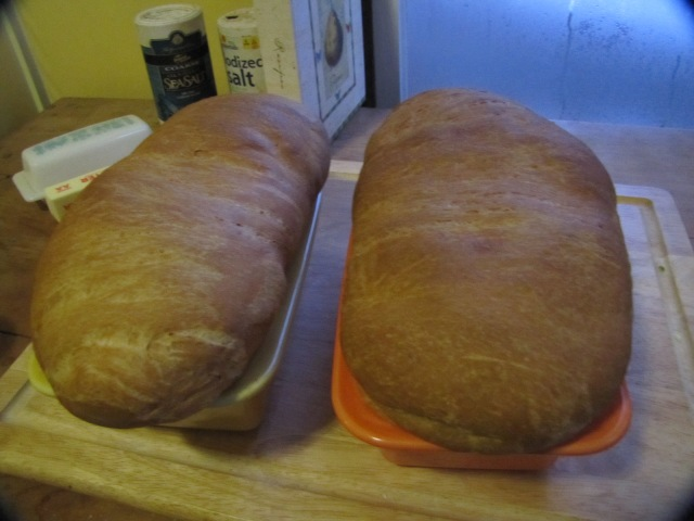 bread out of the oven