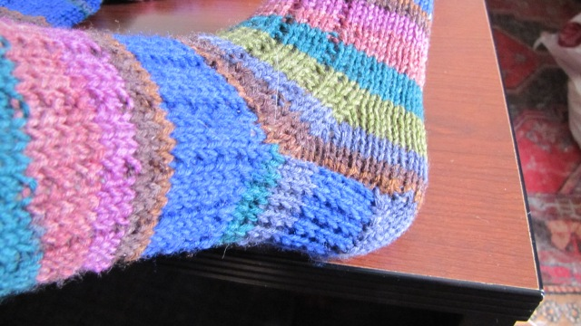 heel of Thuja sock