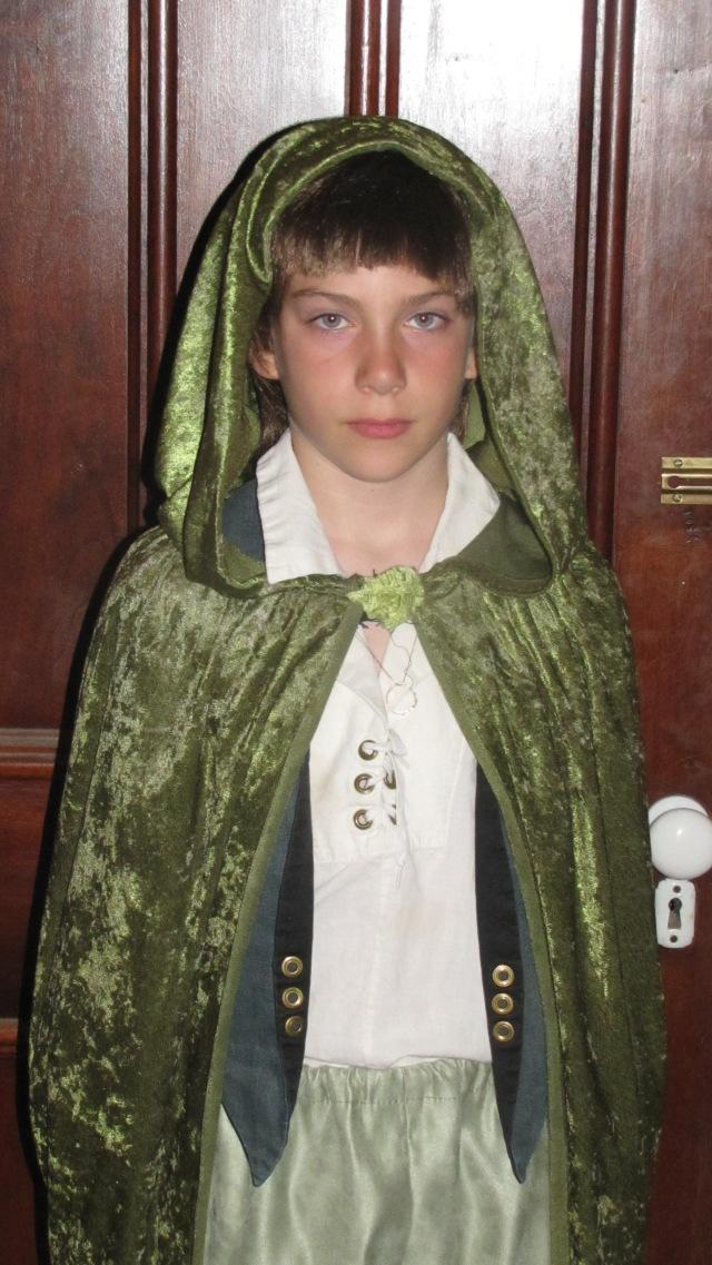 Jesse in his elven cape