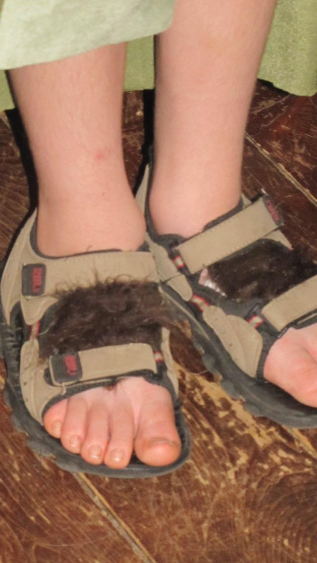 Jesse's furry feet