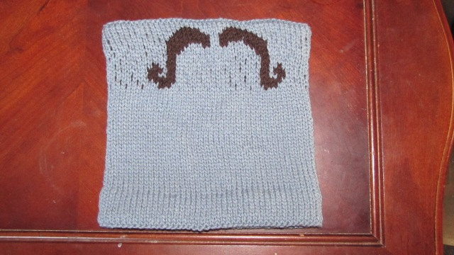 Incognito cowl with it stranded rather than duplicate stitched