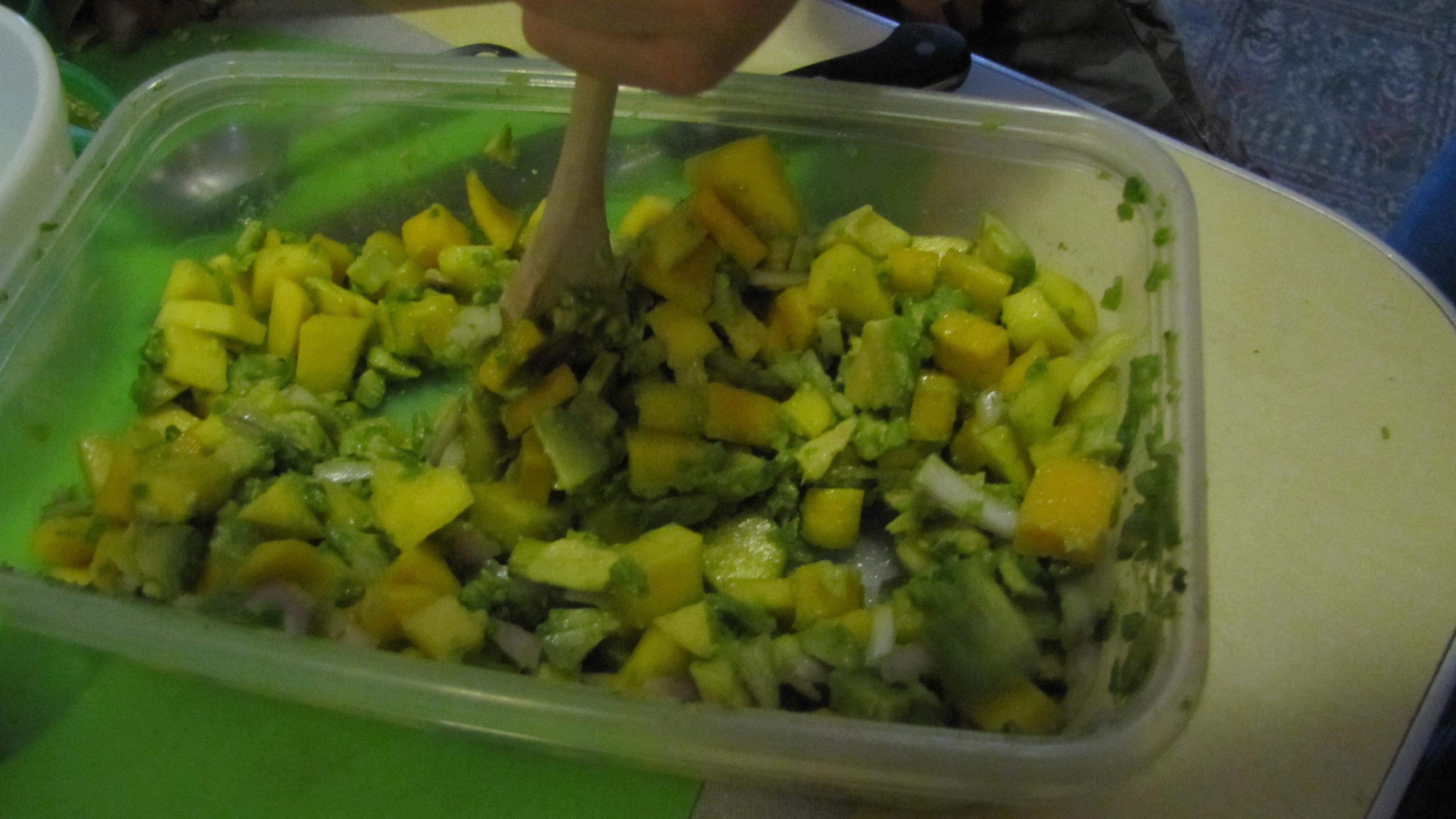 Mexican Seafood Saute With Avocado-Mango Salsa Recipes — Dishmaps