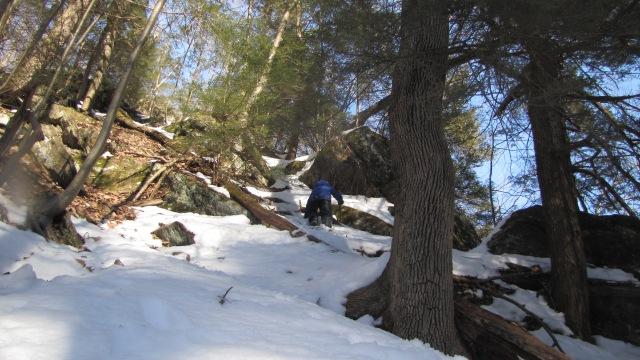 Vash climbing up the ravine